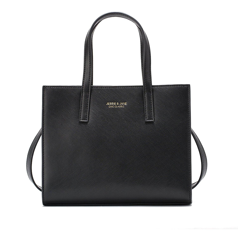 Túi xách nữ màu đen JESSIE & JANE kiểu dáng đơn giản, thời trang
