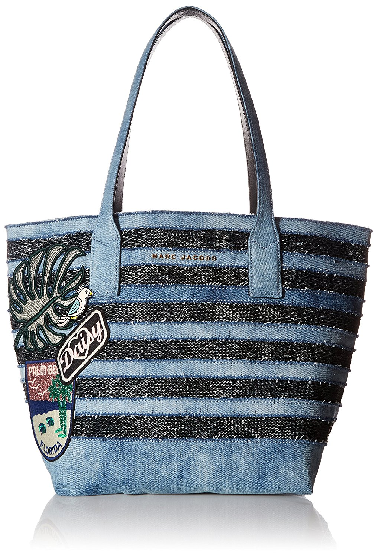 Túi xách nữ sọc xanh đen Marc Jacobs