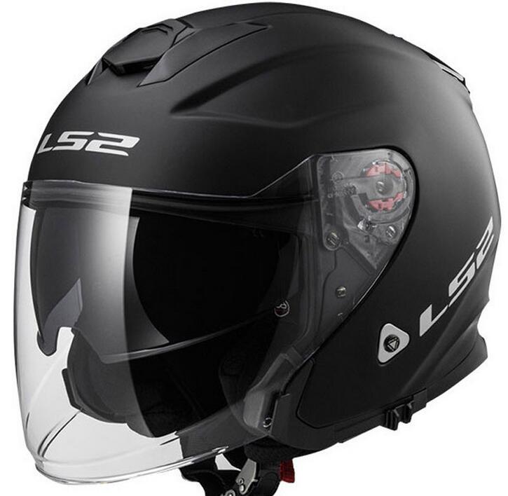 Domestic 2016 new LS2 Bluetooth helmets OF521 FRP dual lens motorcycle four seasons half helmet