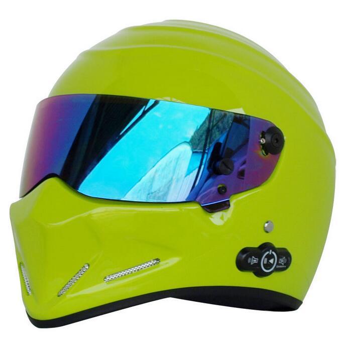Stereo Stereo Bluetooth Version 3.0 Karting Motorcycle Helmet Long battery life ATV-4 lemon yellow