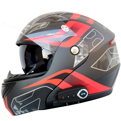 Stereo Bluetooth motorcycle helmet sound quality comes with FM men and women motorcycle helmet doubl