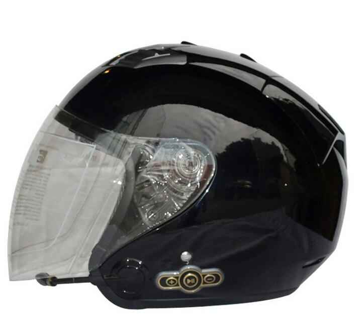 Fashion personality motorcycle half helmet spring summer autumn and winter Karting stereo stereo Blu