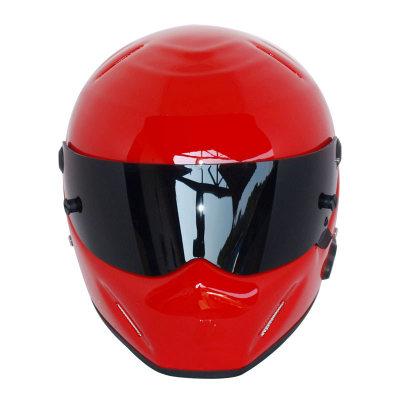 Motorcycle Helmets Helmets Winter Warm Kart Racing Fiberglass Bluetooth Helmet ATV-5 Red