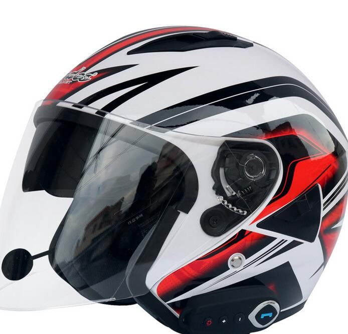 Factory direct dual lens Bluetooth helmet motorcycle Bluetooth helmet stereo sound comes with FM sum