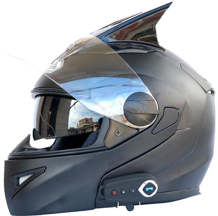 Dual Lens Bluetooth Helmet Motorcycle Bluetooth Helmet Stereo Sound Comes With FM Open Helmet With H