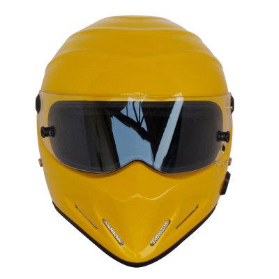 Motorcycle Helmets Helmets Winter Warm Kart Racing Fiberglass Bluetooth Helmet ATV-4 Deep Yellow