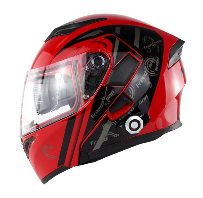 Motorcycle Unlock Helmet Full Duplex Voice Intercom BM2-E Dual Lens Bike Built-in Bluetooth Intercom
