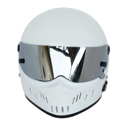 Motorcycle Helmet Helmet Winter Warm Kart Racing Fiberglass Bluetooth Helmet ATV-2 White