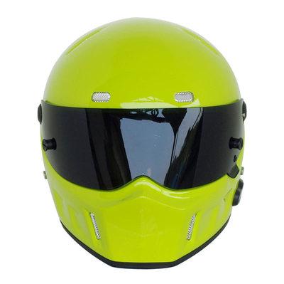 Motorcycle Helmets Helmets Winter Warm Kart Racing Fiberglass Bluetooth Helmet ATV-1 Lemon Yellow