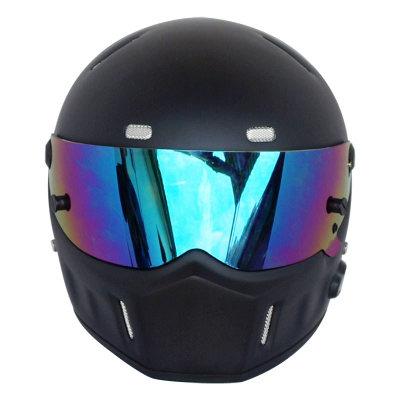 Motorcycle Helmets Helmets Winter Warm Kart Racing Fiberglass Bluetooth Helmet ATV-1 Matte Black