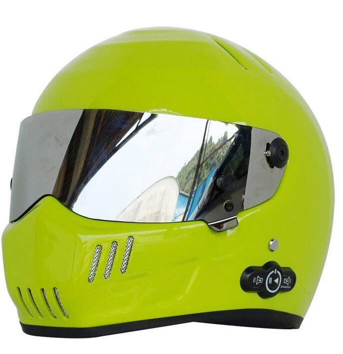 Karting Bluetooth version 3.0 Helmet Long life stereo Bluetooth motorcycle helmets ATV-6 lemon yello