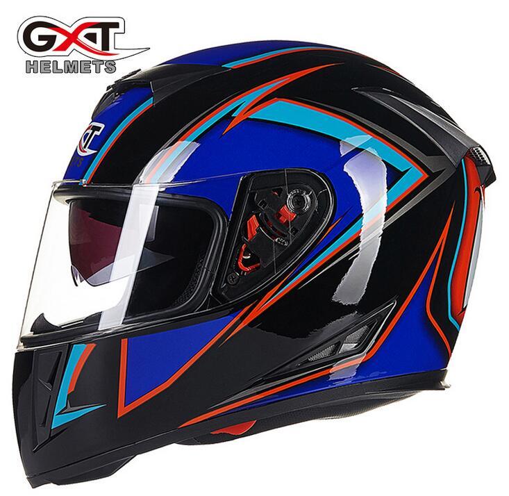 GXT helmet male winter motorcycle electric double mirror anti-fog helmet full helmet G358