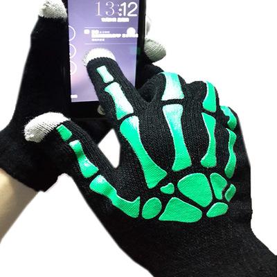 In offset Skeleton móng vuốt chạm vào màn hình dệt kim găng tay kỳ diệu thời trang nóng chất lượng c