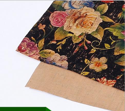 Bần màu da tem thếp vàng da tự nhiên cao su bần Cork đến từ vải da thông nước