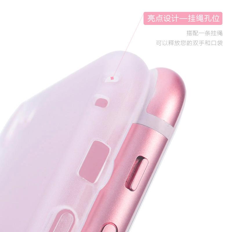trường hợp iPhone iphone6 điện thoại di động vỏ 6s trong suốt mỏng sáu nam cứng cứng i6 chà bao gồm