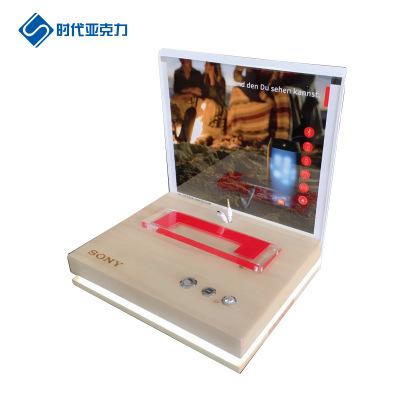 Sản phẩm từ thủy tinh hữu cơ Tuỳ chỉnh xử lý loa loa loa siêu trầm gốc gỗ acrylic gian hàng ngoài tr
