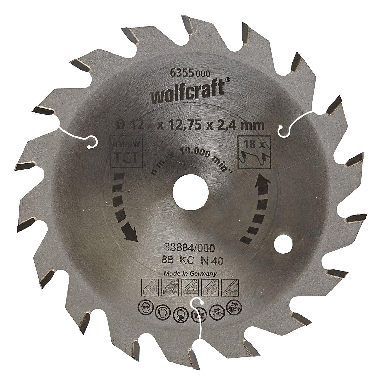 6355000 wolfcraft 127 X 12.75 x 2.4 mm CT Green series 18 răng – SAW a leaf