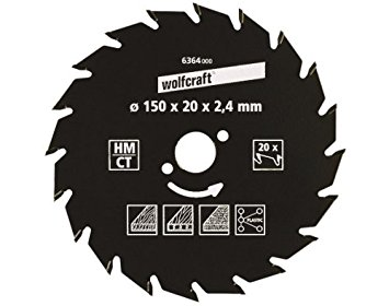Wolfcraft 6382000 230 x 30 x 2.6 mm CT Saw BLADE with 34 răng – Green series