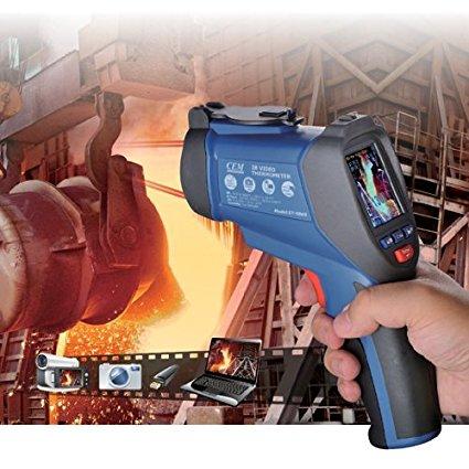 FU DT-9861 tia hồng ngoại. Nhiếp 50 độ chức năng lưu trữ trên 1600 mang hai máy đo nhiệt độ laser hồ