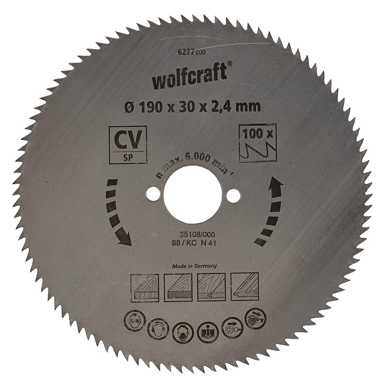 6277000 wolfcraft 190 x 30 x 2.4 mm Hồ sơ răng xanh Series 100 – SAW a leaf