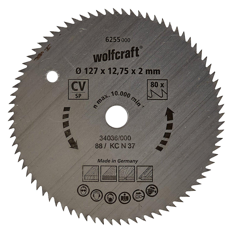 Wolfcraft 6255000 127 X 12.75 x 2 mm Chọn cổng để kết nối và o Saw BLADE with 80 răng – x