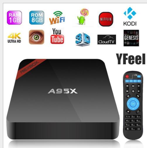 Set-top box, Network set-top box Theo mạng lưới tinh thể A95X s905w Player Android TV độ nét cao 7.1