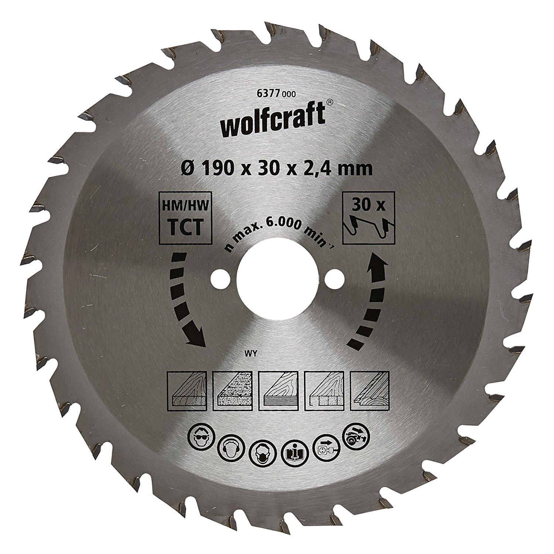 6377000 wolfcraft 190 x 30 x 2.4 mm CT Green Series 30 răng – SAW a leaf
