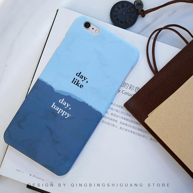 trường hợp iPhone Đơn giản và thanh lịch 5S SE literary cặp vợ chồng Apple iphone6S mỏng mỏng 6plus