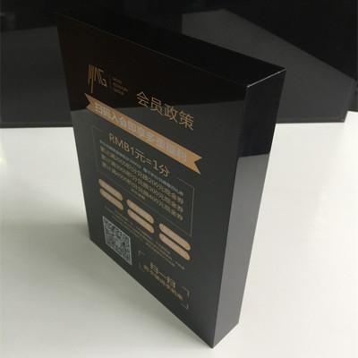 In lên thủy tinh và các sản phẩm thủy tinh Acrylic UV in màn hình 20mm màu đen cấp giấy phép cấp giấ