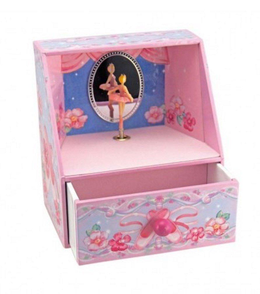 Musicbox Kingdom   Nhà hát và múa ba Lê Hồng tím turning ballet nổi đôi hộp nữ trang – cô gái nhạc