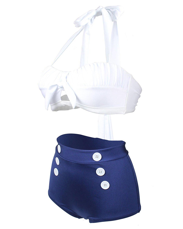 Tempt Messerschmitt Me Hạ cờ xuống ME hai mảnh bikini đưa nút treo cổ điển ấy là góc bẹt Bottoms