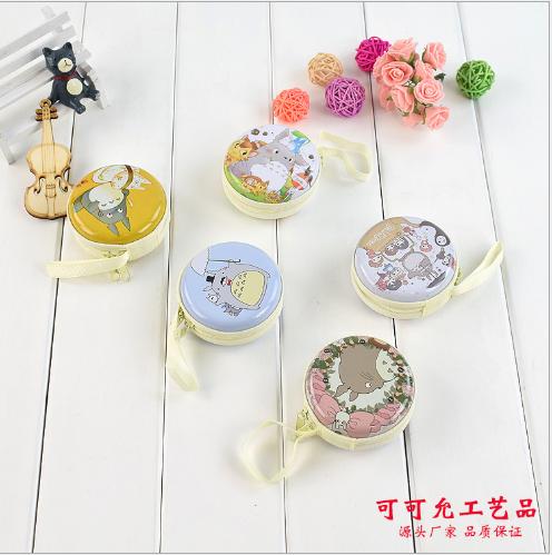 Túi xách cho trẻ em Sắt tây Zero hoạt hình túi ví Totoro tai nghe hộp quà sinh nhật cho trẻ em tiếp