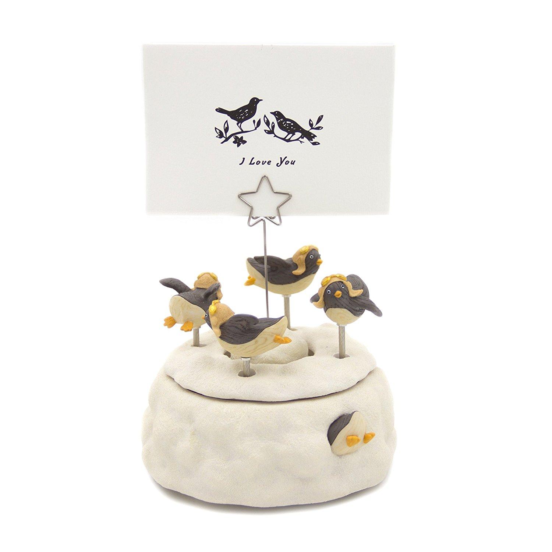 JARLL/ JARLL Đài Loan cảnh ngôi sao chim cánh cụt trong tuyết ảnh clip lời ghi chú kẹp Music Box