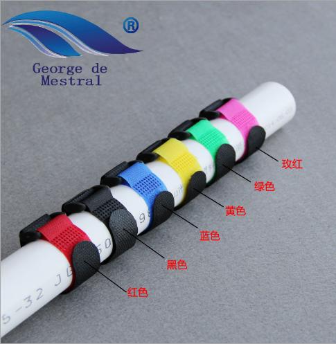 Khóa dán Velcro Nhà sản xuất ảo thuật dán nối tiếp nhau nylon then cửa chặt lỏng dính vào đường dây