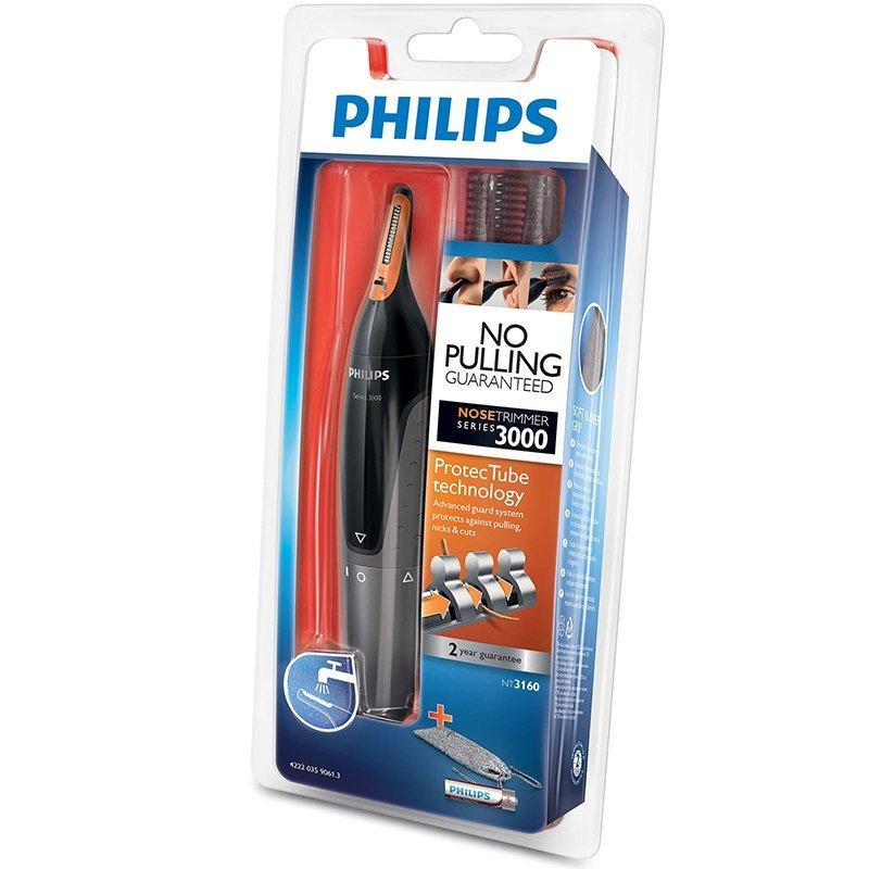 Thiết bị điện tử Philips NT3160 lỗ mũi cắt cô dao cạo cạo lông mày đàn ông đi tu tai bộ lỗ mũi.
