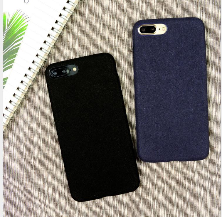 Case iPhone  Iphone7 vỏ điện thoại đơn giản. Apple 6Splus bảo vệ bộ lông chống vỡ vỏ mới mềm vải nhu