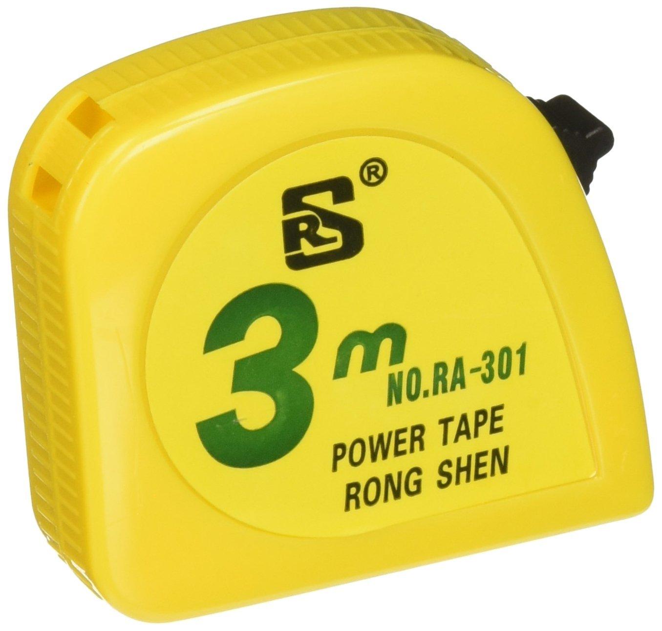Uxcell dài thước đo từ thép công cụ đo lường metric băng, 3 m, màu vàng.
