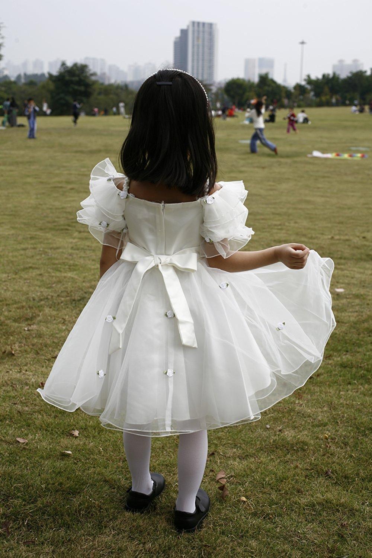 Pure Angel   Thiên thần của sự tinh khiết. Nơ Hoa công chúa Áo tay ngắn micrantha đồng trẻ em nữ váy