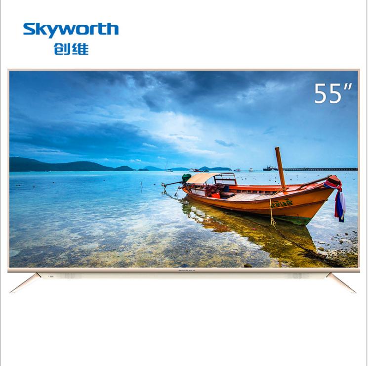 Smart TV  Skyworth/ 55V8E 55 inch 21 hạt nhân siêu độ nét cao 4 màu 4K Smart TV 58 mạng tinh thể lỏn