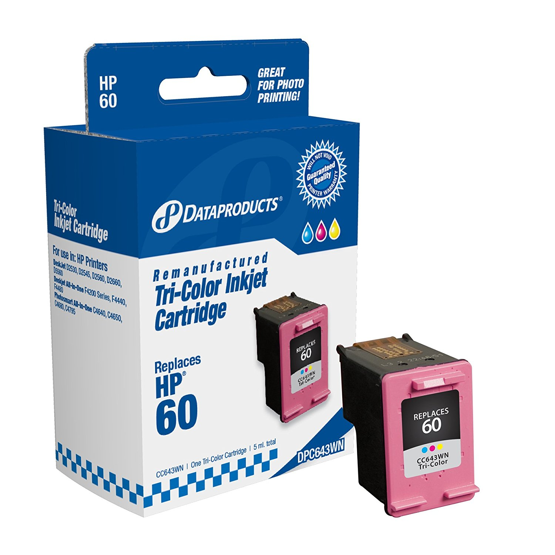 Sản phẩm tái tạo dữ liệu dpc643wn Hewlett - Packard # 60 thay thế (cc643wn) (hộp mực màu)