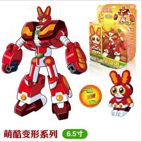 Đồ chơi hoạt hình Phim hoạt hình anime các vành đai biến dạng robot đồ chơi 6.5 inch thỏ chạy rông l