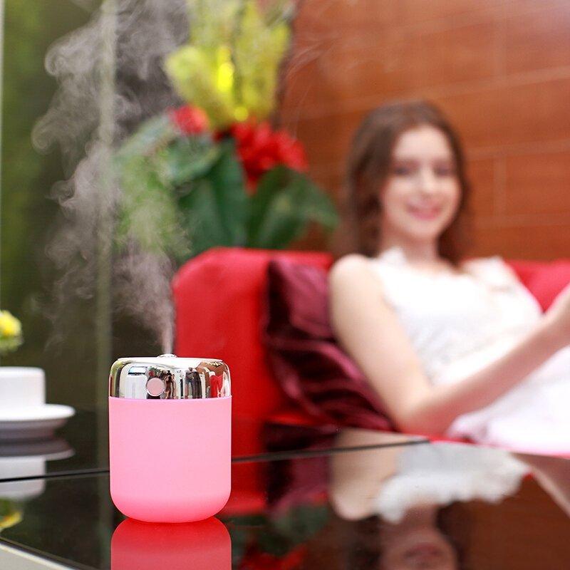 Do máy bay Cỏ sao máy tạo ẩm không khí mini USB máy tạo ẩm không khí câm màn hình màu hồng sáng tạo