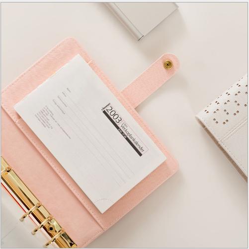 Sổ lò xo trang rời A5 mới sáng tạo 6 lỗ. Cuốn sổ tay thời trang giấy rời chạm rỗng Notepad triệu dùn