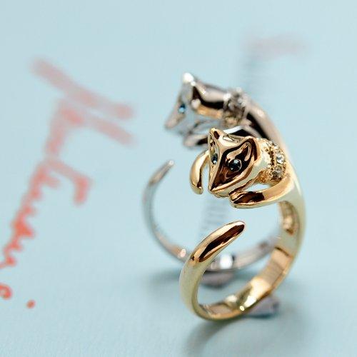 Mbox hộp nhạc thời trang nữ nhẫn trang sức nhỏ dễ thương thần cáo rất đơn giản.