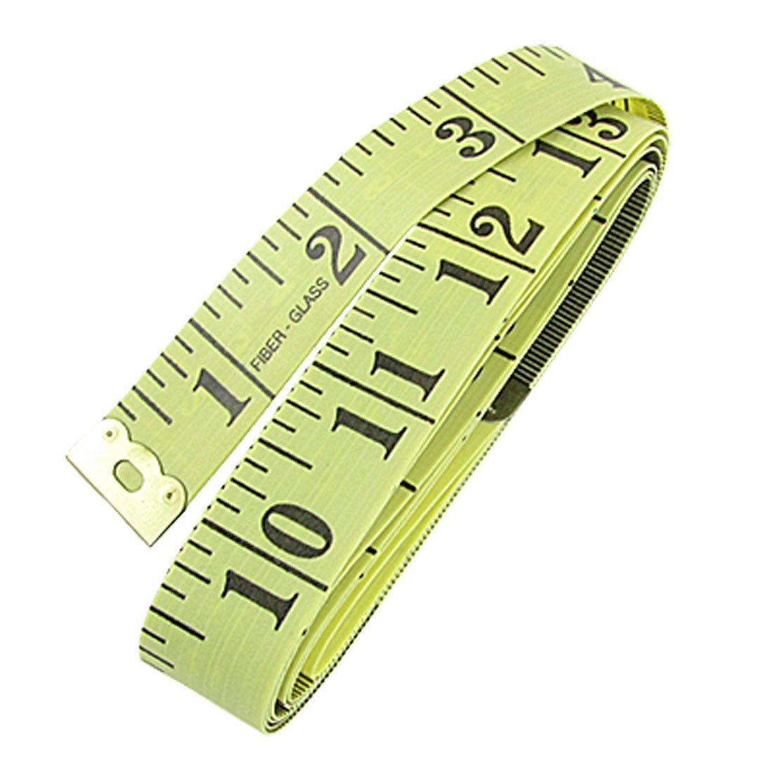 Uxcell thợ may seamstress loại thước thước đo vải, 27.94 cm, màu vàng / đen.