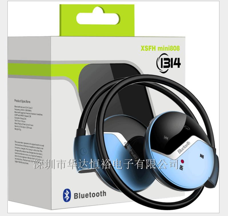 Loại đeo cổ  Vụ nổ tai nghe Bluetooth 4.0 treo khoản mini808 loại tai nghe Bluetooth stereo không mấ