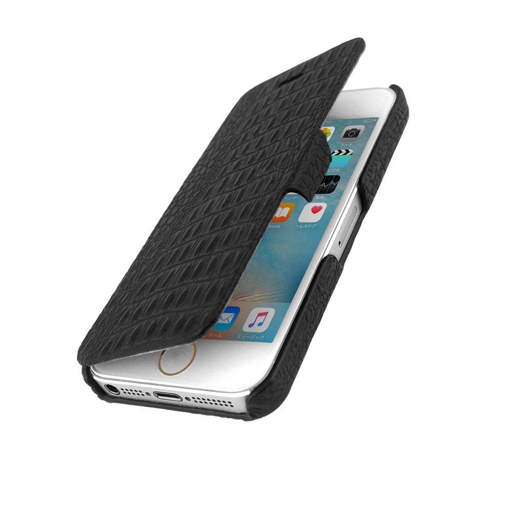 Nhật Bản HANATORA Hoa Hổ H4 da cá sấu da tay iPhoneSE/5 xăm bao súng điện thoại di động Apple 5S vỏ