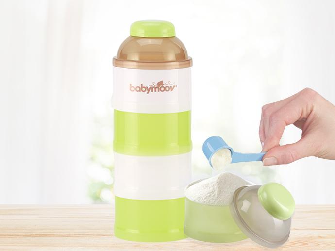 Babymoov bột cho em bé ra ngoài hộp công suất lớn để lưu trữ hộp sữa bột xách tay lưới trong 4 tầng