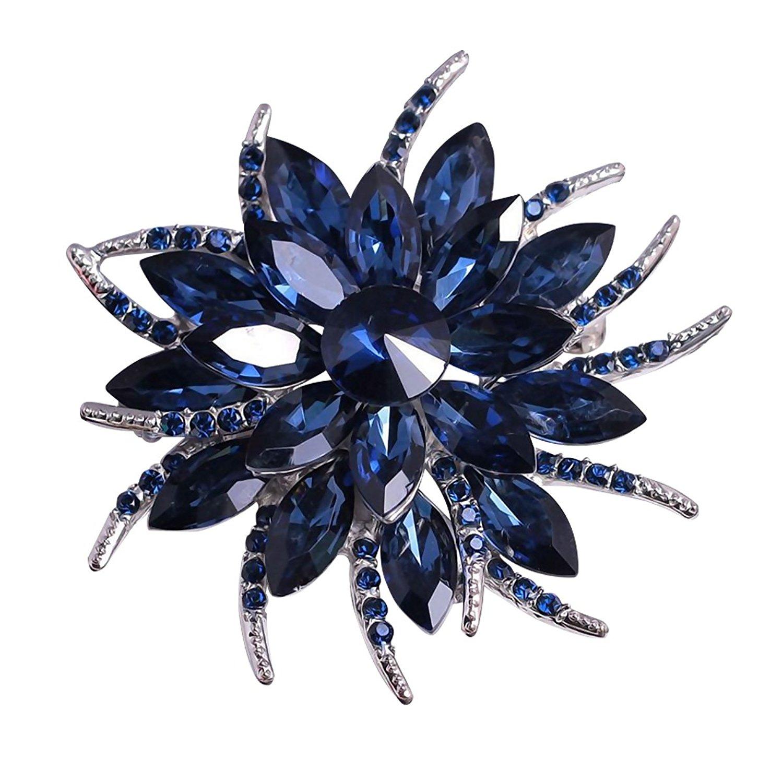 Bộ đồ thời trang nữ... Một cái hoa cài trâm hoa cúc áo choàng khăn ghim vào trang sức phụ kiện mực m
