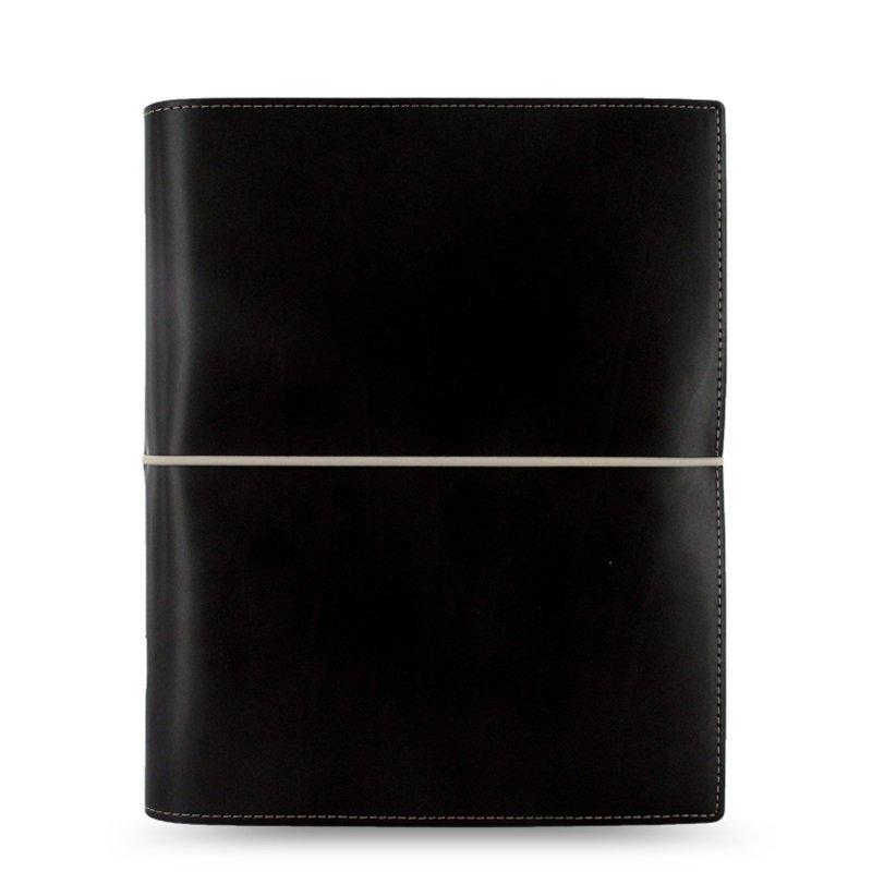 Sổ lò xo trang rời  027868 để phết lên giấy rời Marcus Domino A5 đen có nhiều khả năng cuốn sổ nhật